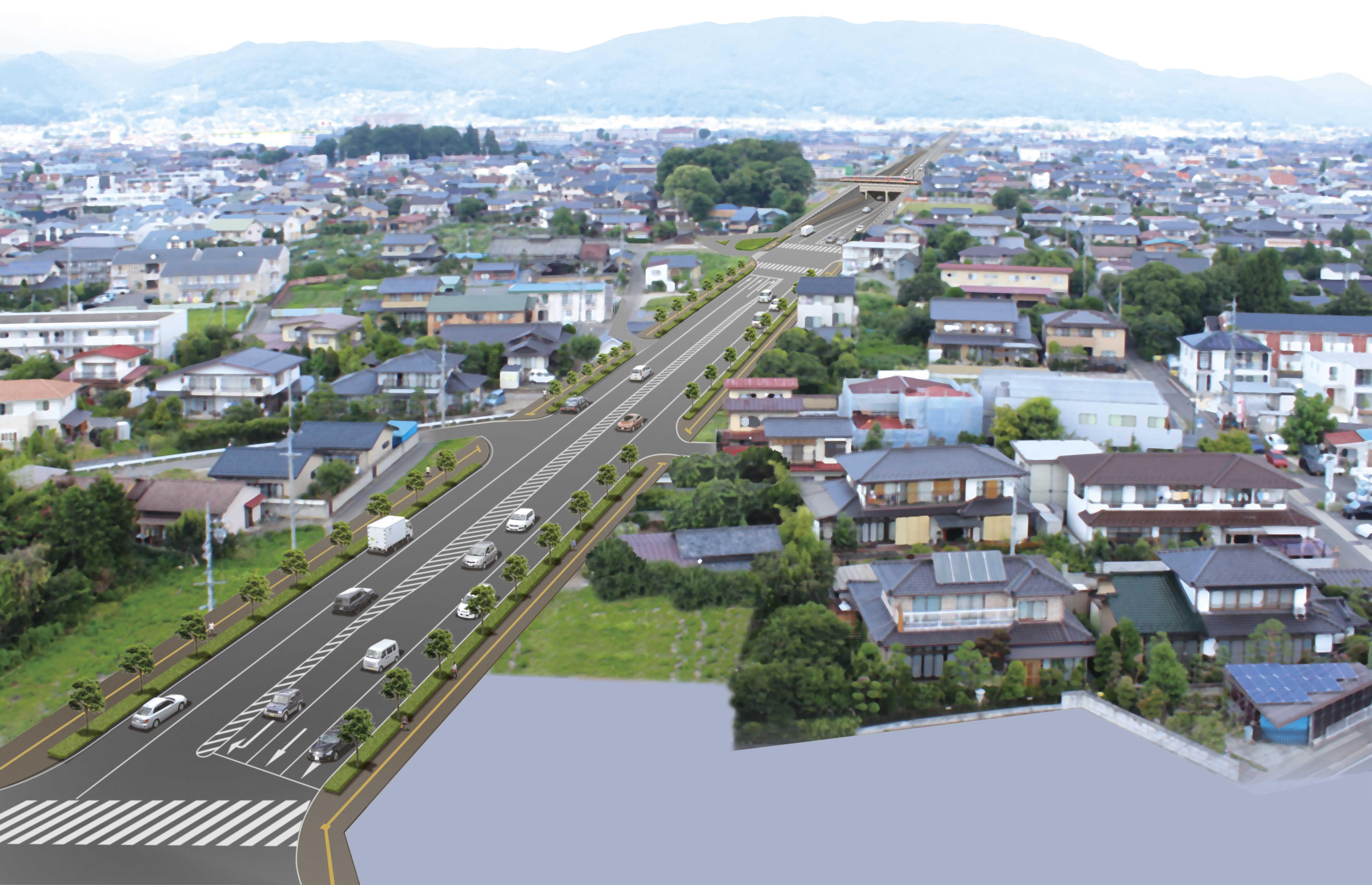 県単街路事業に伴う設計 (都)高田若槻線