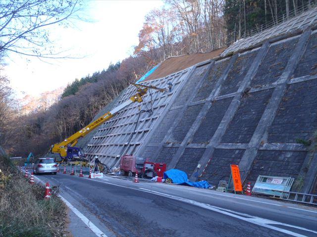県単道路防災事業に伴う設計 (主)諏訪辰野線