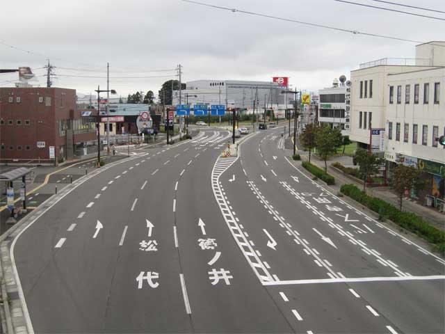 国道117号 青木島交差点(長野市)