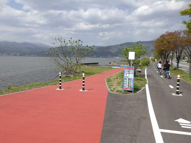 諏訪湖周サイクリングロード(諏訪市)